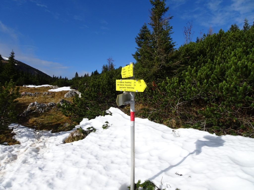 """Turn left here and follow the trail towards """"Ottohaus"""""""