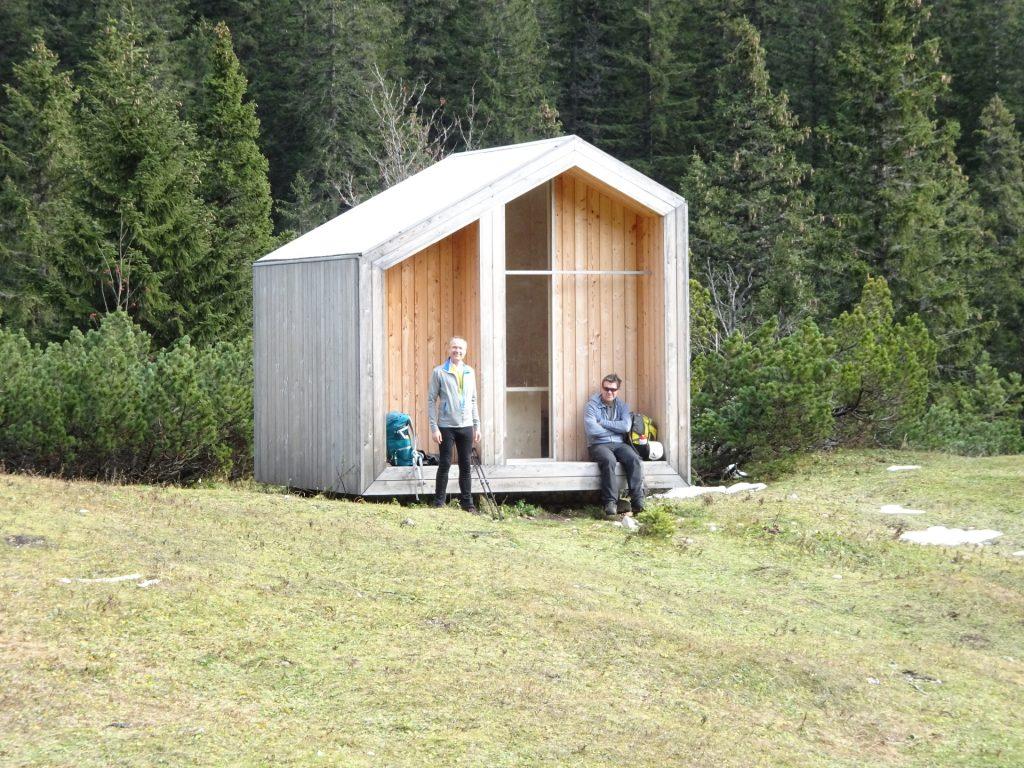 """Herbert and Robert do a break at """"Dirnbacherhütte"""""""