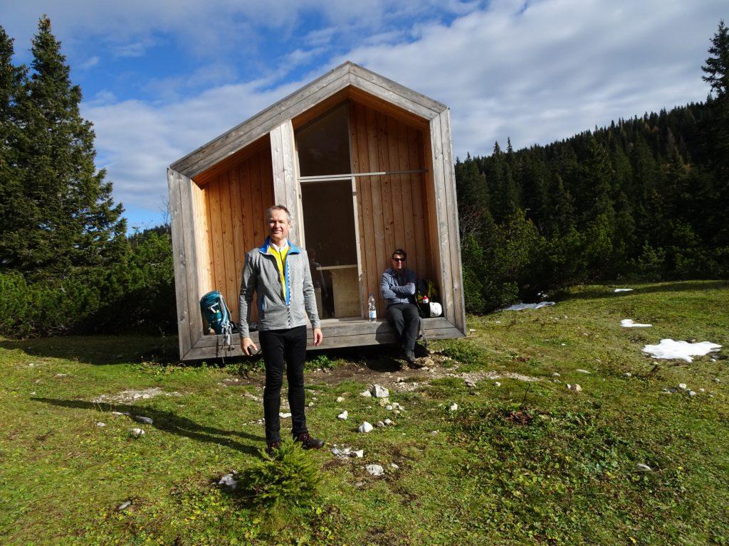 """Herbert and Robert doing a break at """"Dirnbacherhütte"""""""
