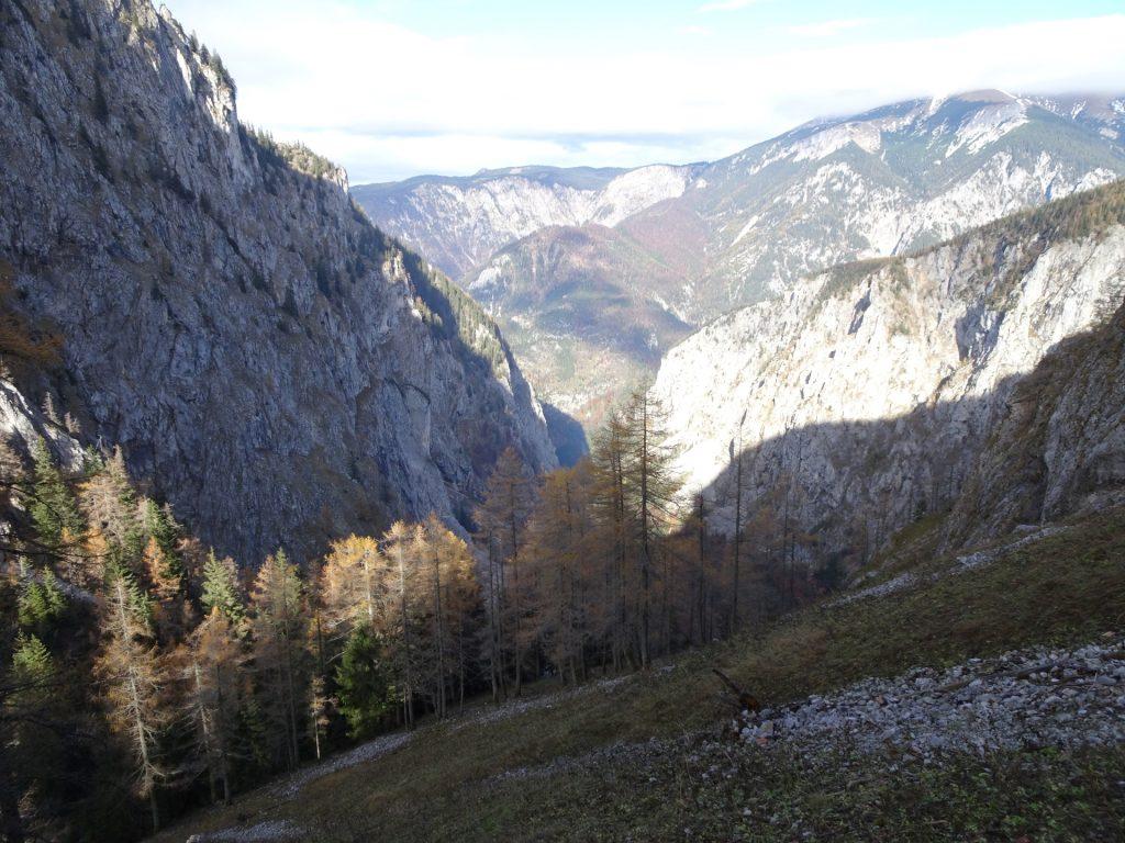 "View downwards to ""Höllental"""