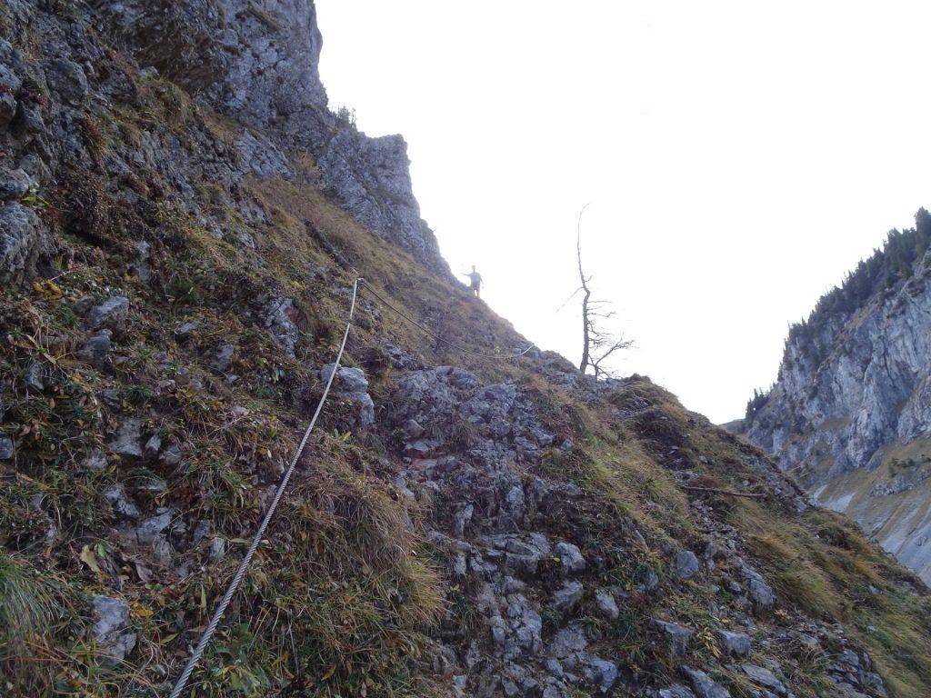 Herbert follows on the traverse