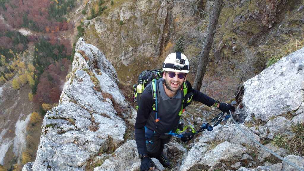 "Stefan enjoys the climb at ""Gustav-Jahn-Steig"""