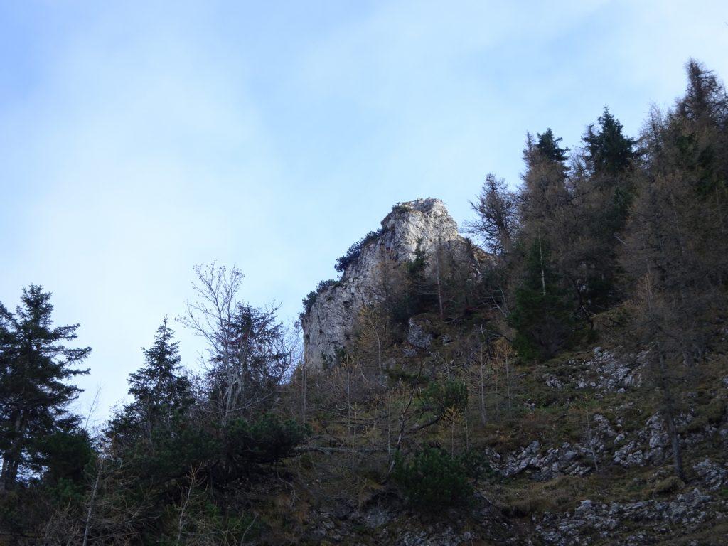 "The ""Höllentalaussicht"" (viewing platform at the end of ""AV-Steig"")"