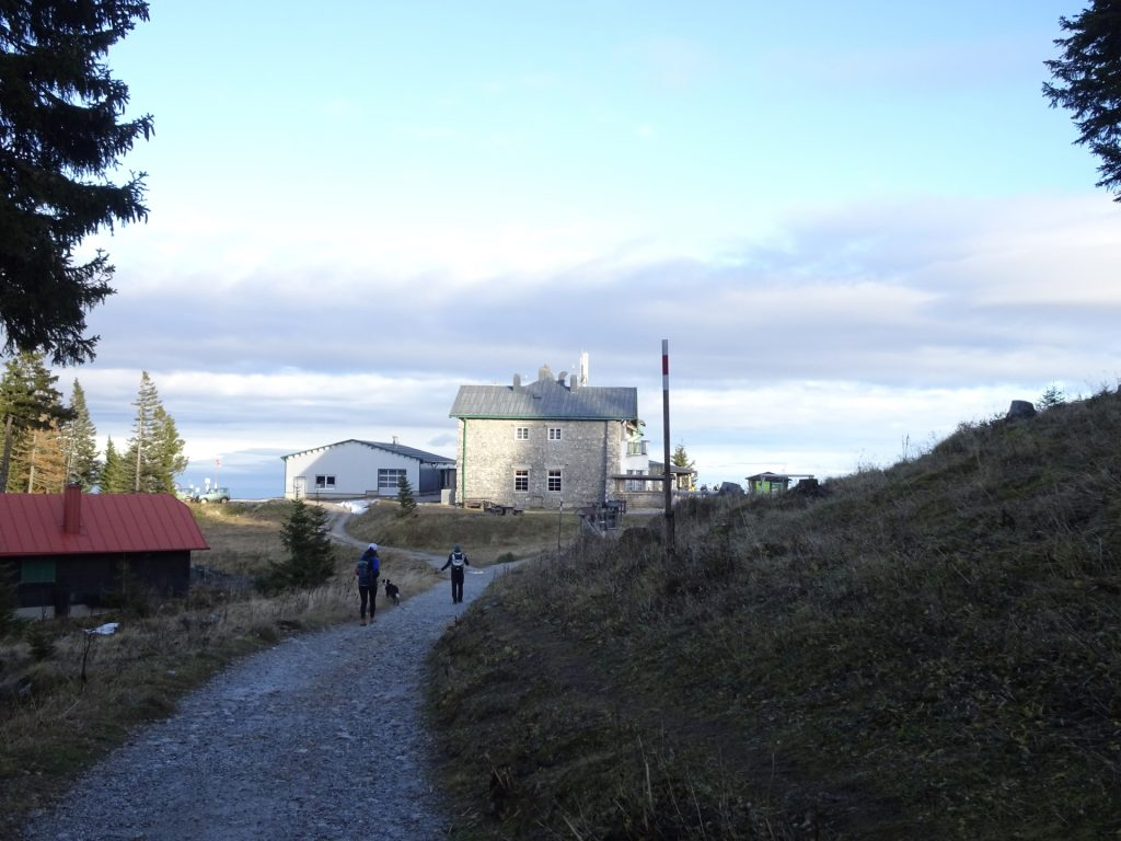 """The """"Berggasthof"""" and the mountain station of the cable car"""