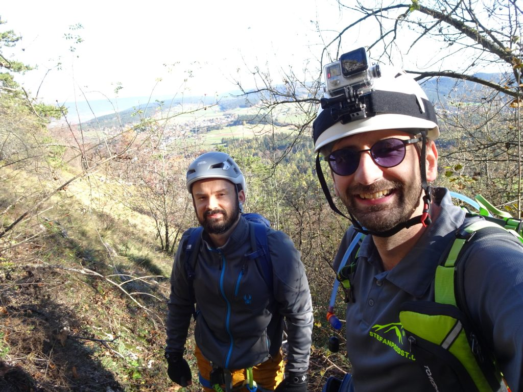 "Predrag and Stefan at the begin of ""Ganghofersteig"" via ferrata (C/D)"