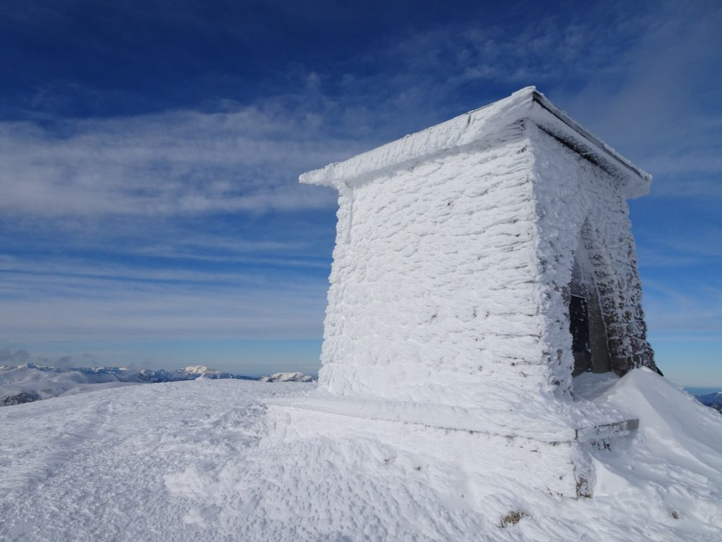 "The ""Heukuppe"" summit (covered totally in snow and ice)"