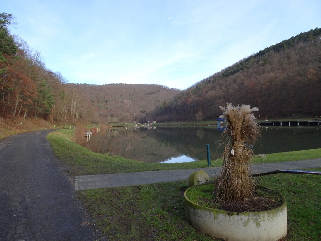 The dam lake in Rechnitz