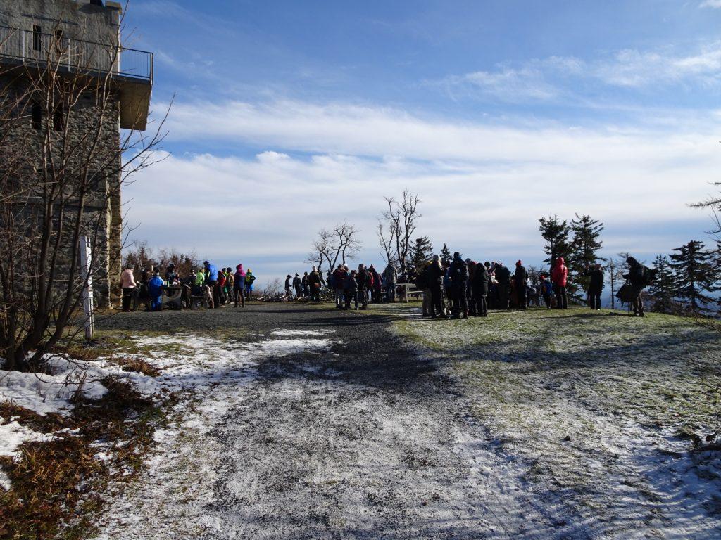 """The """"Geschriebenstein"""" is very crowded!"""