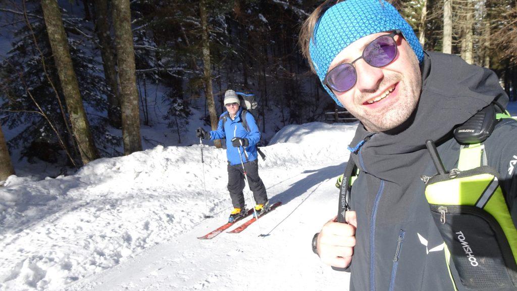 Stefan and Robert enjoy the sun