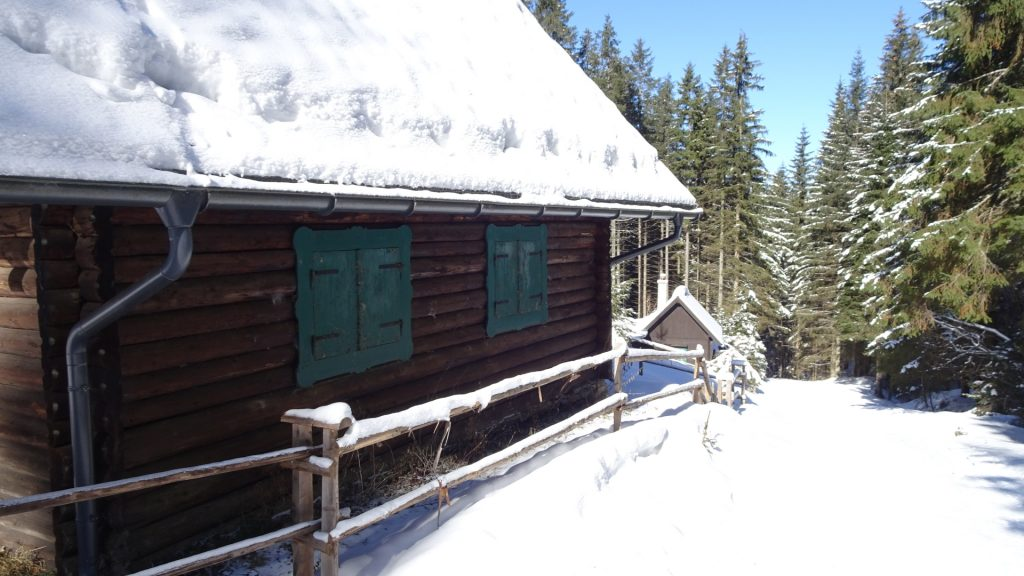 Nice mountain hut next to the trail
